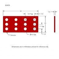 664206 Silicone Isolators Drawing